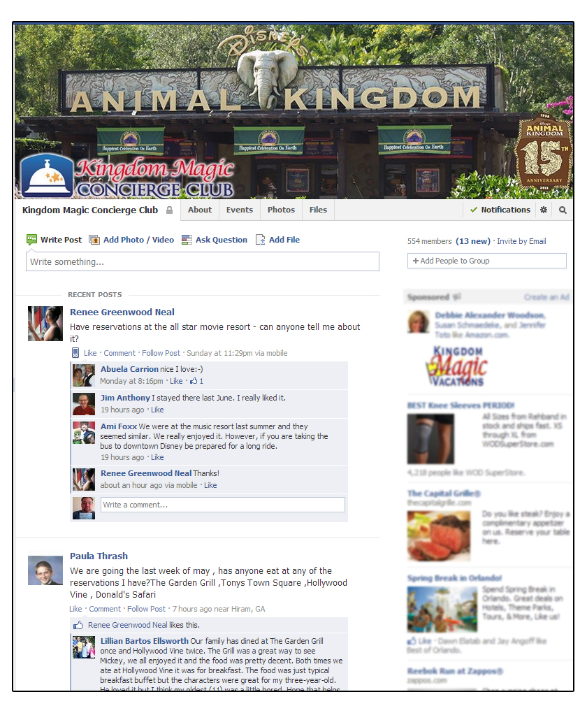 Exclusive Kingdom Magic Concierge Club Facebook Group