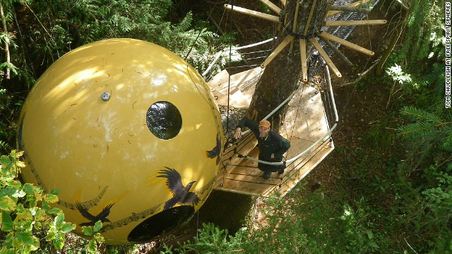 6. Free Spirit Spheres, British Columbia, Canada