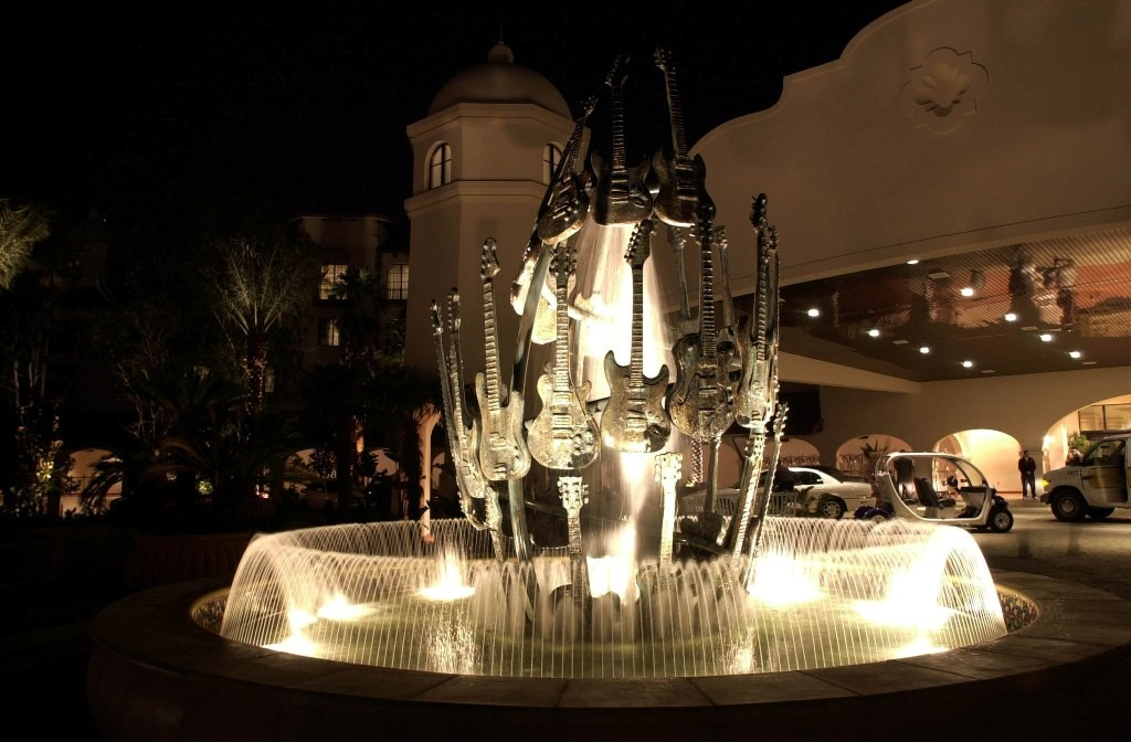 Hard Rock Hotel Guitar Fountain - LR