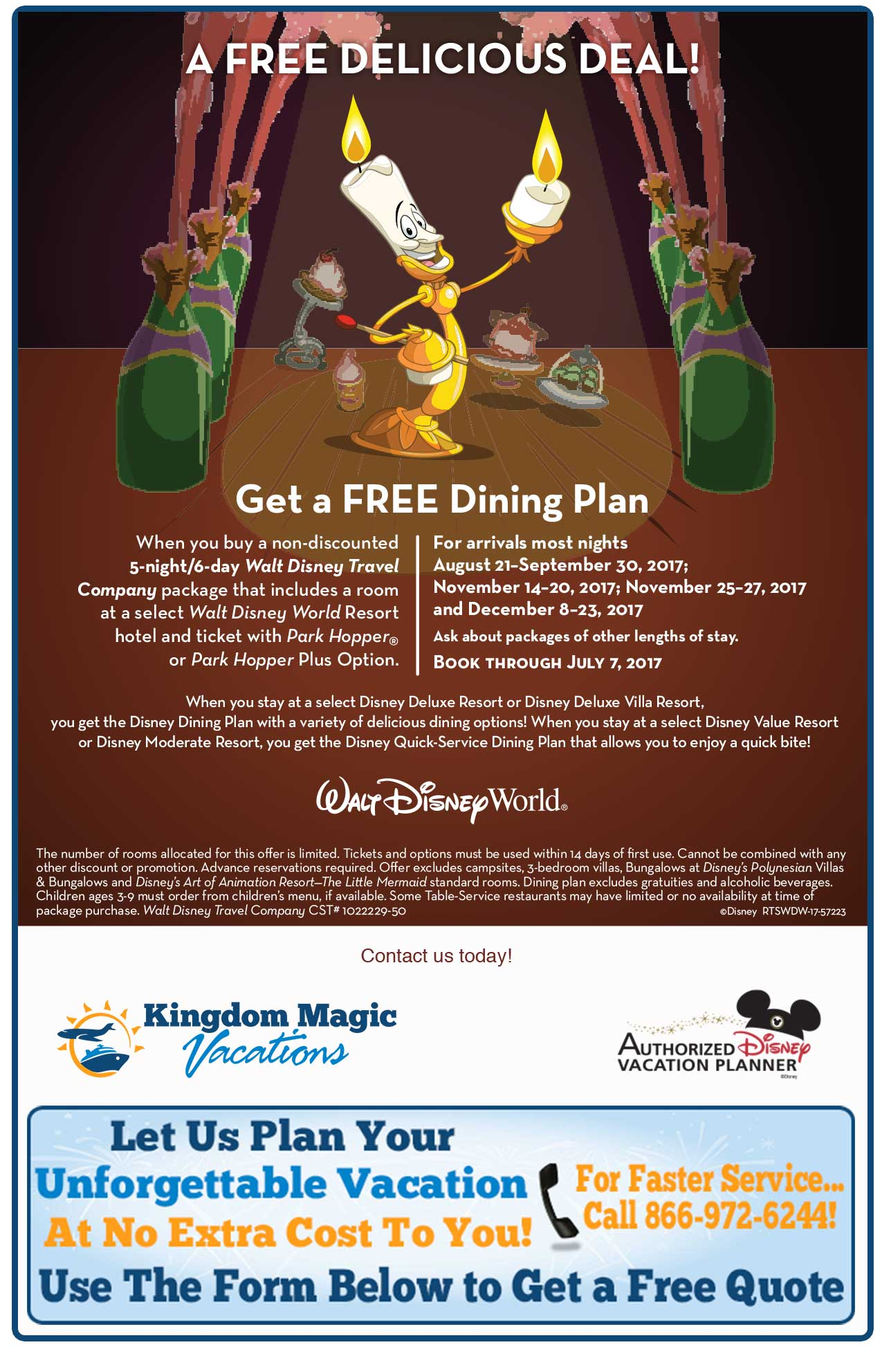 Feast On This Delicious Walt Disney World Resort Offer