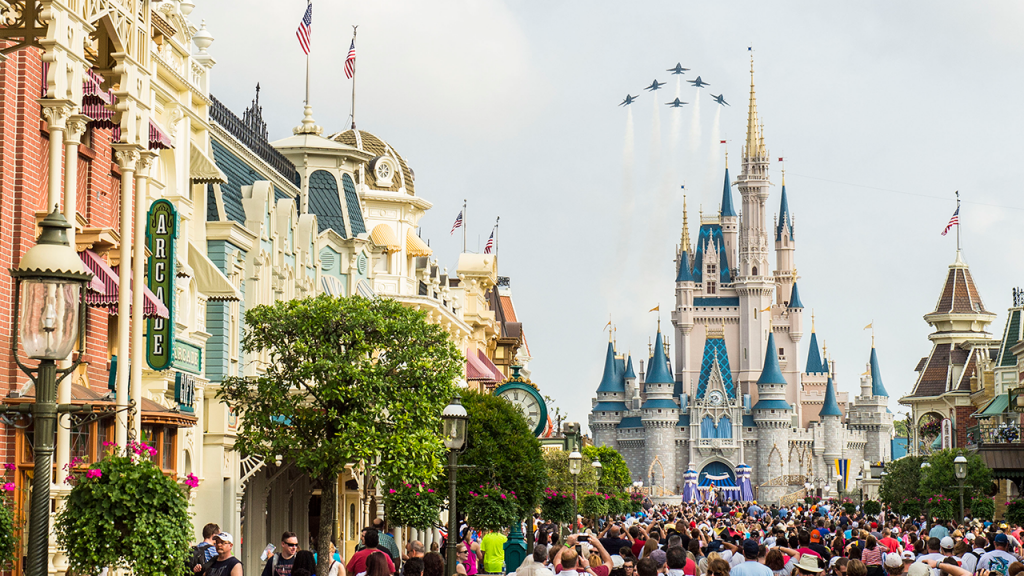 U.S. Navy Blue Angels to Fly Over Magic Kingdom Park at Walt Disney World Resort