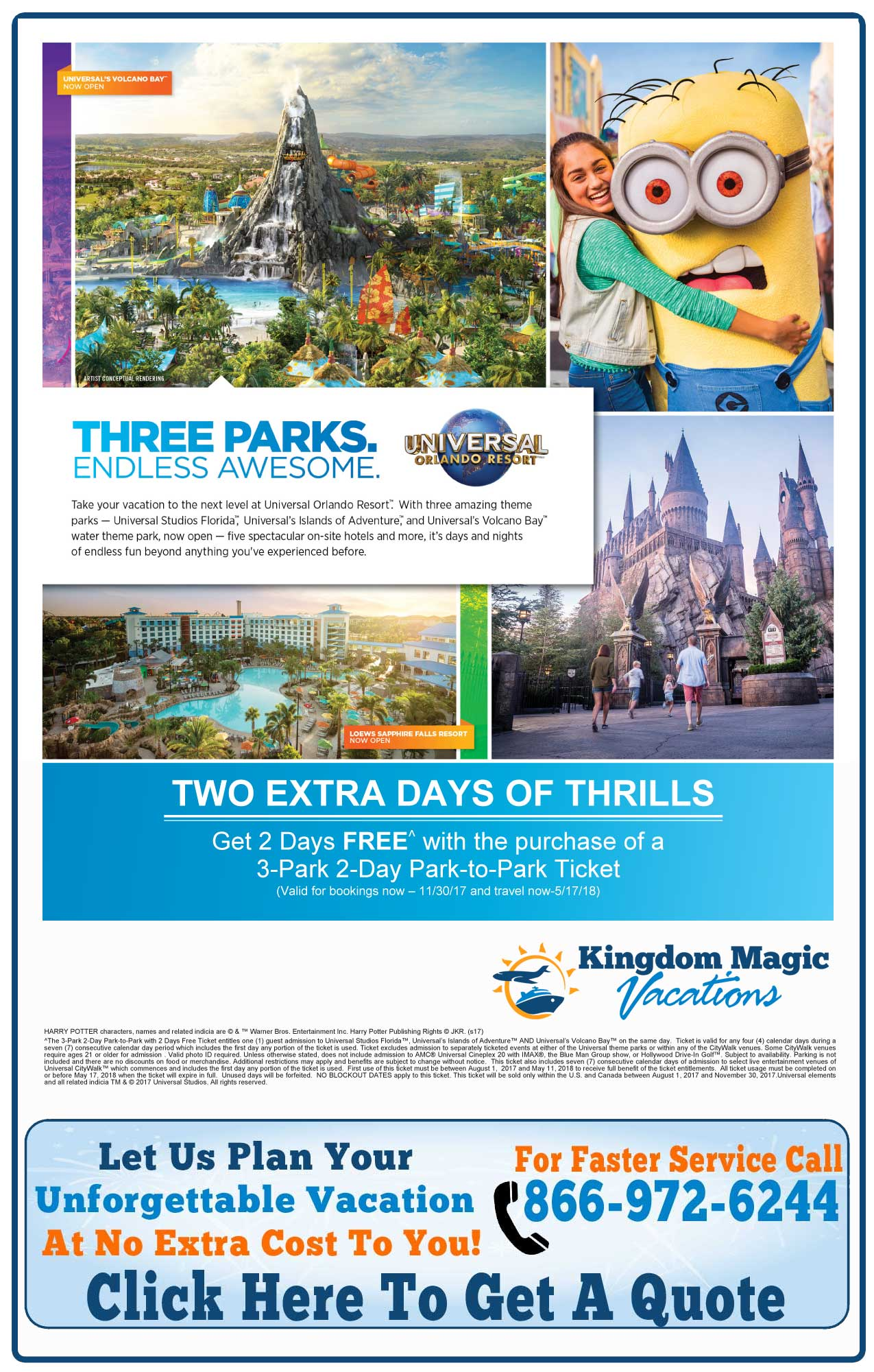 Universal 2-Day Park-to-Park Ticket